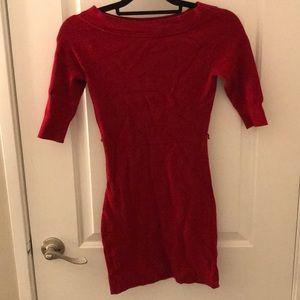 Red Mini Sweater Dress